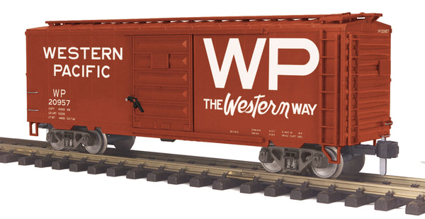 MTH 70-74089 Western Pacific WP 40' Box Car No.: 20957 G Gauge RailKing One Gauge