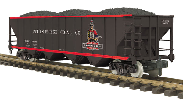 MTH 70-75061 Pittsburgh Coal Company 4-Bay Hopper Car # 80526 G Gauge RailKing One Gauge