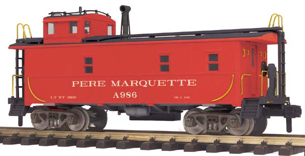 MTH 70-77014 Pere Marquette Offset Steel Caboose - G Gauge RailKing One Gauge