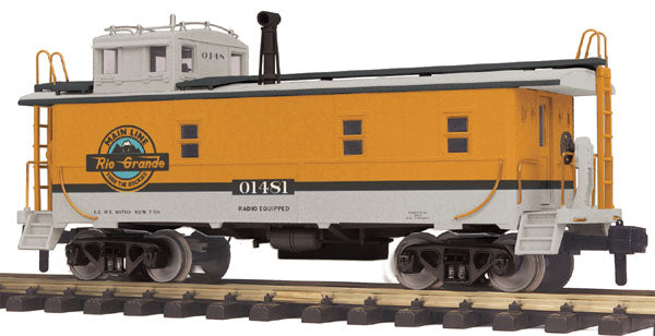 MTH 70-77026 Denver Rio Grande Offset Steel Caboose - G Gauge RailKing One Gauge