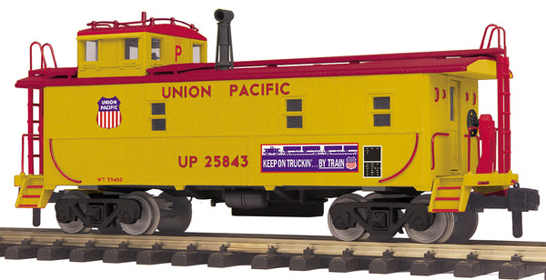 MTH 70-77035 Union Pacific UP Offset Steel Caboose # 25843 - G Gauge RailKing One Gauge