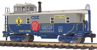 MTH 70-77037 CSX Offset Steel Caboose # 21195 - G Gauge RailKing One Gauge