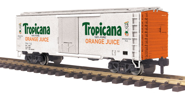 MTH 70-78040 Tropicana Reefer Car #732 - G Gauge RailKing One Gauge