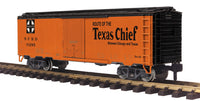 MTH 70-78049 Santa Fe Route of the Texas Chief Reefer Car #10285 - G Gauge RailKing One Gauge