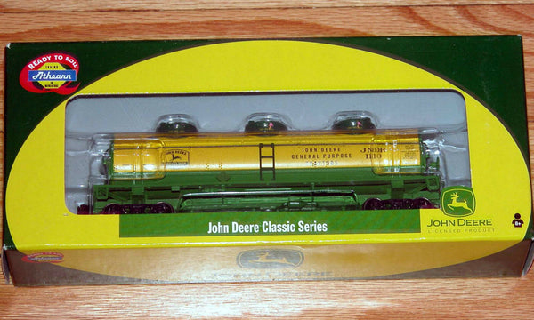 Athearn 7772 John Deere Triple Dome Tank Car JNDR 1110 Classic Series HO Scale Used