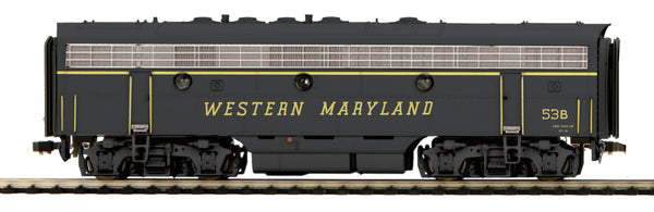 MTH 80-2113-1 Western Maryland WM F-7 B Unit with Proto Sound 3.0  HO Scale