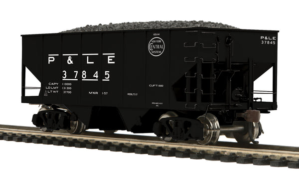 MTH 80-97052 Pittsburgh & Lake Erie P&LE USRA-55 Ton Steel Twin Hopper Car #37845 HO Scale