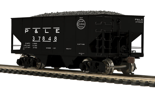 MTH 80-97053 Pittsburgh & Lake Erie P&LE USRA-55 Ton Steel Twin Hopper Car #37848 HO Scale