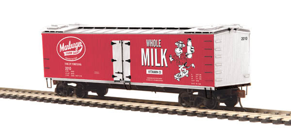 MTH 81-94018 Marburger Dairy R40-2 Woodside Reefer Car - No. 2009 HO Scale