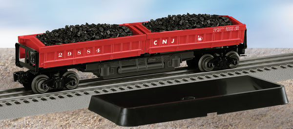 Lionel 6-29884 Central of New Jersey CNJ Twin Bin Dump Car