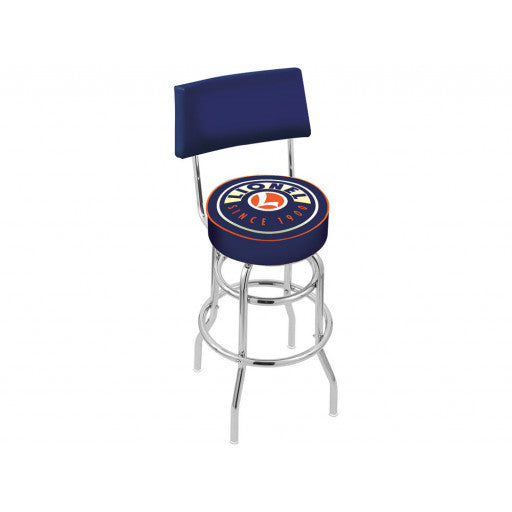 Lionel 9-42056  Lionel New Blue Bar Stool with Back