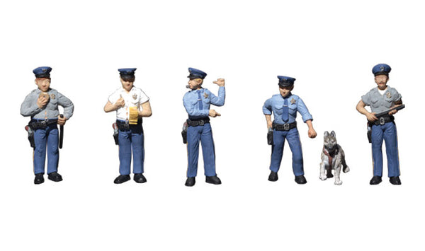 Woodland Scenics A1822 Policemen Scale Figures HO Scale