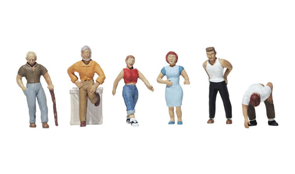 Woodland Scenics A1824 Ordinary People Scale Figures HO Scale