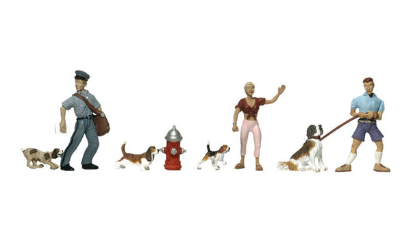 Woodland Scenics A1827 People & Pets Scale Figures HO Scale