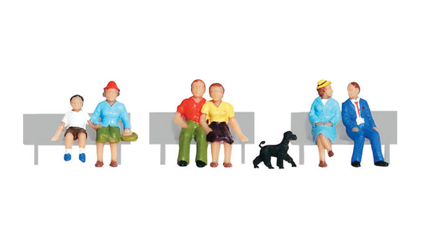 Woodland Scenics A1834 Sitting and Waiting Scale Figures HO Scale