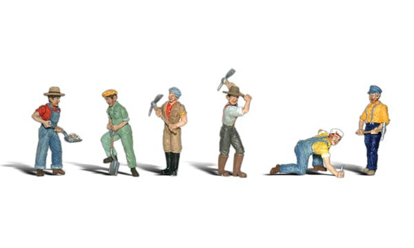 Woodland Scenics A1865 Track Workers Scale Figures HO Scale