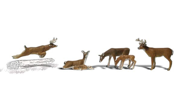 Woodland Scenics A1884 Deer Scale Figures HO Scale