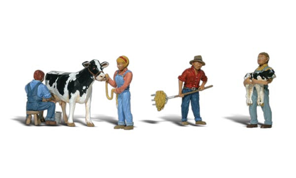 Woodland Scenics A1887 Dairy Farmers Scale Figures HO Scale