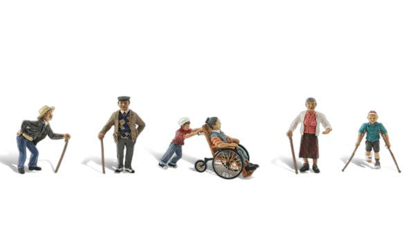Woodland Scenics A1946 Physically Challenged Scale Figures HO Scale