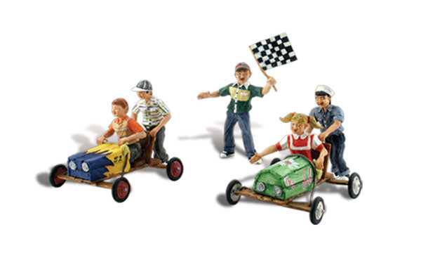 Woodland Scenics A1952 Downhill Derby Scale Figures HO Scale