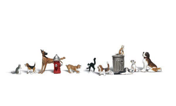 Woodland Scenics A2725 Dogs & Cats Scale Figures O Scale
