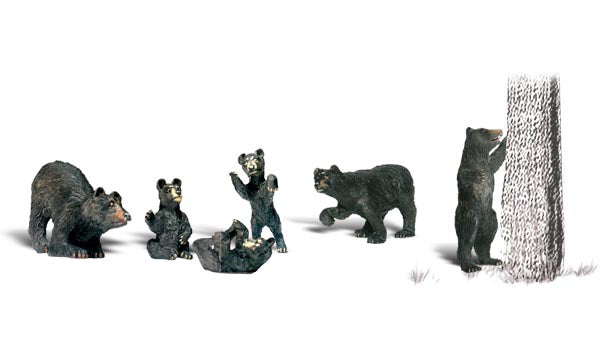 Woodland Scenics A2737 Black Bears Scale Figures O Scale