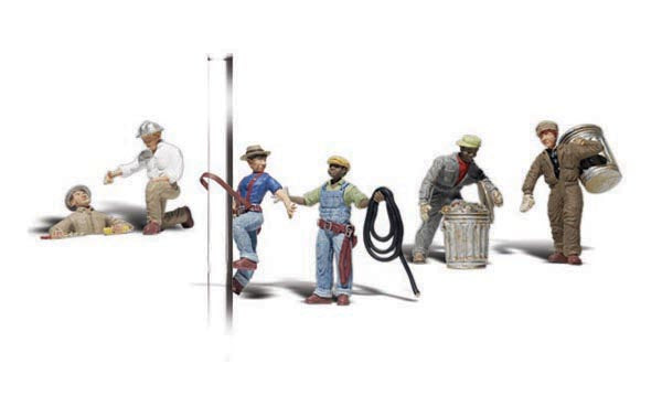 Woodland Scenics A2742 City Workers Scale Figures O Scale