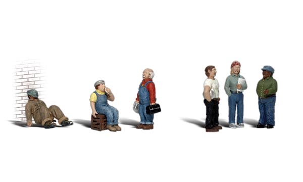 Woodland Scenics A2746 Factory Workers Scale Figures O Scale