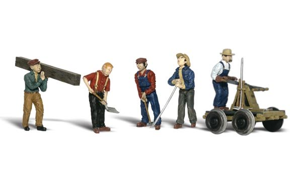 Woodland Scenics A2747 Rail Workers Scale Figures O Scale