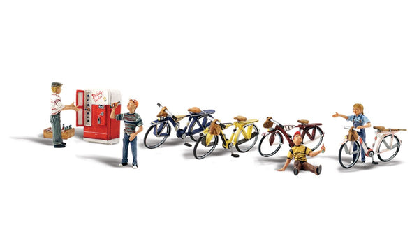 Woodland Scenics A2752 Bicycle Buddies Scale Figures O Scale