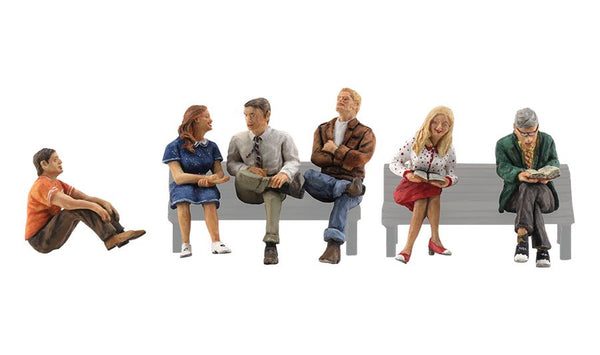 Woodland Scenics A2759 People Sitting Scale Figures O Scale