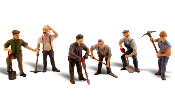 Woodland Scenics A2761 Road Crew Scale Figures O Scale