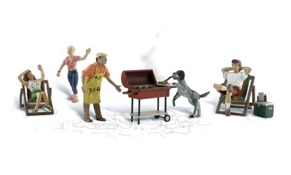 Woodland Scenics A2765 Backyard Barbeque Scale Figures O Scale