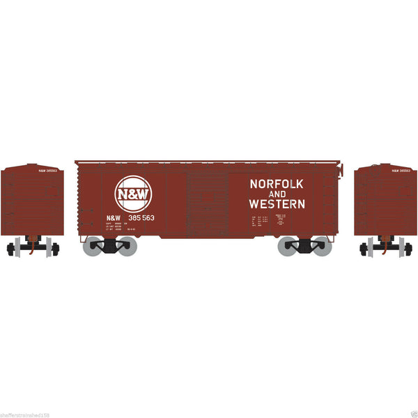 Athearn 76922 Norfolk and Western 40' Boxcar Youngstown Door HO Scale
