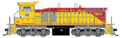 Atlas 10011060 Union Railroad #23 (yellow, red) EMD MP15DC Standard Hood Engine w/Sound & DCC - HO Scale