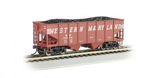 Bachmann 19504 Western Maryland WM (Speed Lettering) 55' Ton 2-Bay USRA Outside Braced Hopper w/load HO Scale