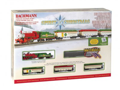 Bachmann 24017 Spirit of Christmas Steam Locomotive N Scale Ready to Run Train Set