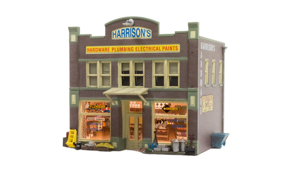 Woodland Scenics BR5022 Harrison's Hardware Store Built-&-Ready HO Scale