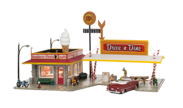 Woodland Scenics BR5029 Drive n' Dine Built-&-Ready HO Scale