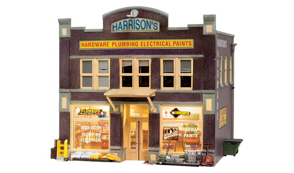 Woodland Scenics BR5842 Harrison's Hardware Store Built-&-Ready O Scale