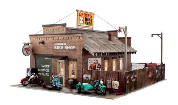Woodland Scenics BR5846 Deuce's Bike Shop Built-&-Ready O Scale