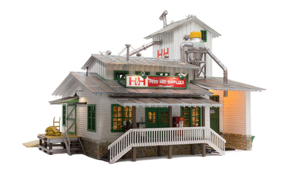 Woodland Scenics BR5859 H&H Feed Mill Built-&-Ready O Scale