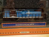 Lionel Series 1 Big Rugged Trains Boston & Maine B&M Railroad GP-9 Diecast Toy Engine 1:120 Scale in Decorative Tin