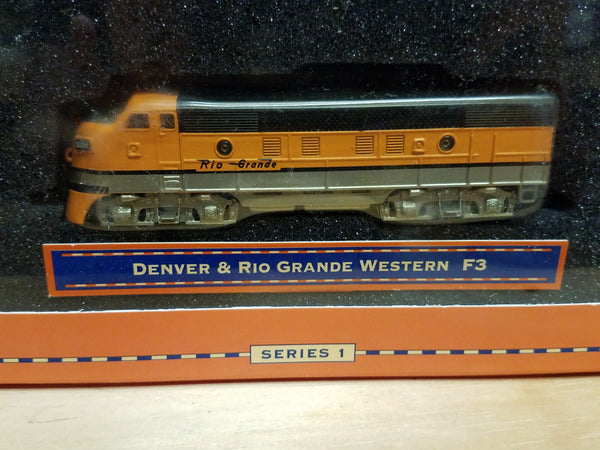 Lionel Series 1 Big Rugged Trains Denver & Rio Grande Western F3 Diecast Toy Engine 1:120 Scale in Decorative Tin