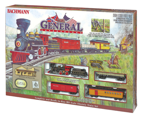 Bachmann 00736 Western & Atlantic Railroad Civil War The General 4-4-0 Steam Locomotive Train Set HO SCALE