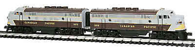 K-Line K-25181  Canadian Pacific CP F-7 A-A w/Lionel RailSounds & TMCC with 6 Matching Passenger Cars K-4618A K-4618C