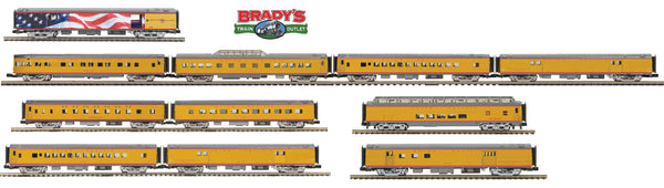 MTH Premier Union Pacific UP 20-64092 20-64094 20-64093 and 20-64089 President HW Bush passenger car set Exclusive