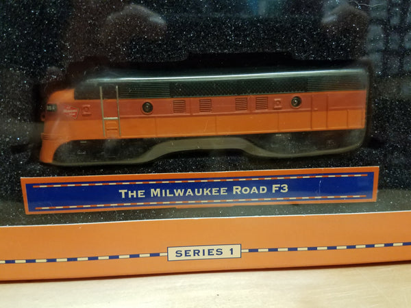 Lionel Series 1 Big Rugged Trains The Milwaukee Road F3 Diecast Toy Engine 1:120 Scale in Decorative Tin