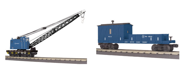 MTH 30-79583 Westinghouse Crane and 30-79587 Westinghouse Crane Tender