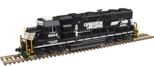 Atlas 40004119 Norfolk Southern NS Operational Lifesaver GP-38 Low Nose Locomotive  #5669 N SCALE
